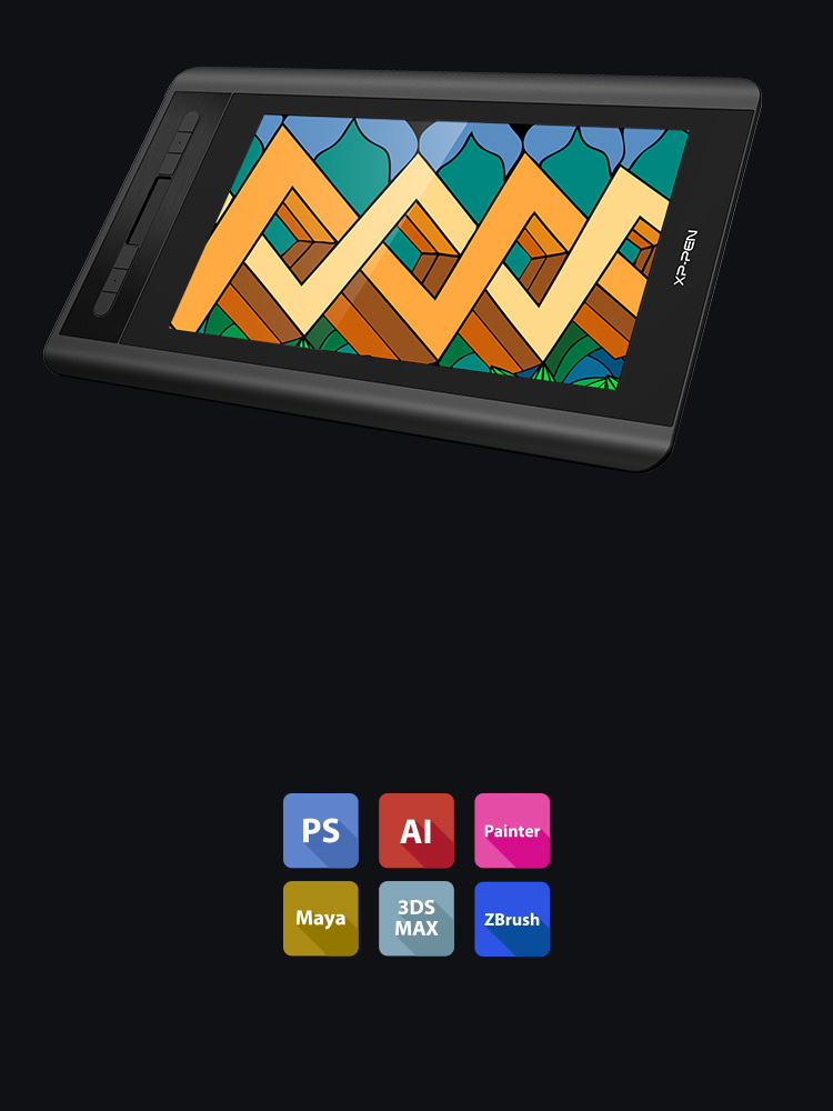 Artist 12 digital painting tablet Supports Windows and MAC OS