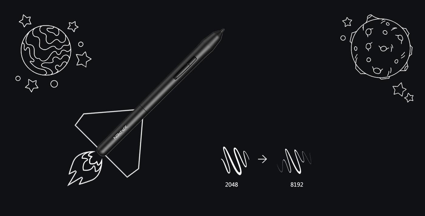 XP-Pen Star G640 Tableta de dibujo digital con 8192 niveles de presión