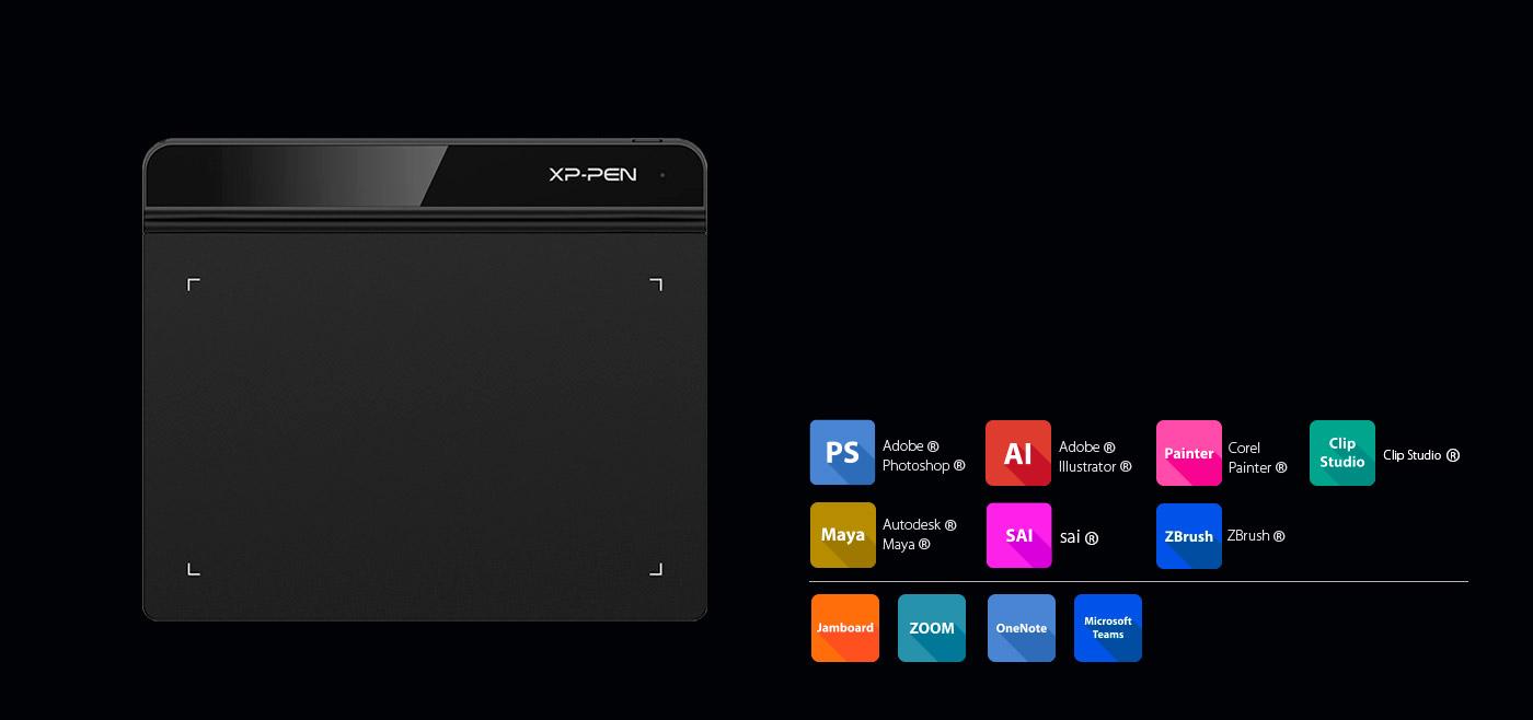 XP-Pen Star G640 Tableta Compatible Windows y Mac OS y programas de dibujo photoshop y  illustrator